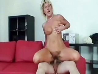 granny swallows a big shlong and bonks it is hard