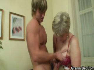 blond older fucked hard by young guy