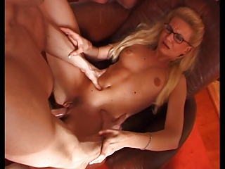 FRENCH MILF WITH GLASSES IN GANG BANG PARTY  PART