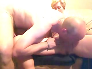 aged couple exchanging oral pleasure sex