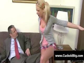 Cuckold Sessions - Interracial threesome fuck 17