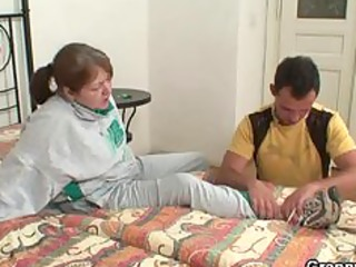 Injured grandma gets healed by young dick