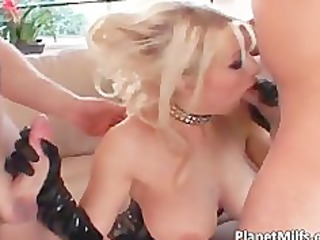 wicked blonde milf with pierced wet crack gets