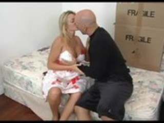 amazing blonde mature seducing her son\s ally