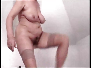 hairy granny drilled by troc