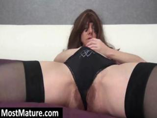 wearing threesome black nylons a hot milf digs