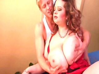 gets her massive natural tits