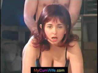 busty wife receives screwed from behind and then