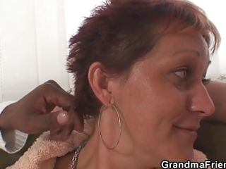lonely grandma receives pounded by buddies