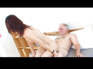 diminutive tittted cutie gets fucked by granddad
