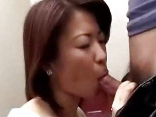 japanese mama caught boy masturbating in crapper