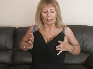 breasty aged fingering her unshaved vagina