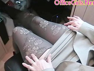 Big tits chubby british milf secretary in