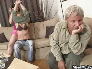 his mama toying whilst daddy fucking his gf