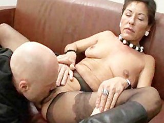 curly mature boss with salaried