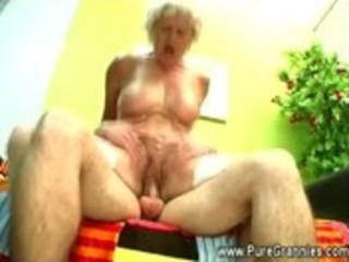 grandmother cums after oral