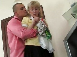 older maid drilled in the ass