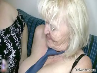 obscene blond granny loves fucking a bulky