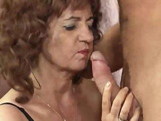 hawt granny big tits in stockings
