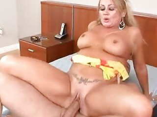 mature golden-haired loves his hot cum