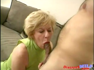 naughty older bitch gets facial load