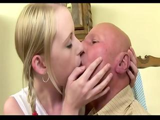 Old Man fuck his juvenile Girlfriend (Creampie)