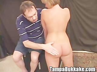 breasty legal age teenager acquires bukkaked