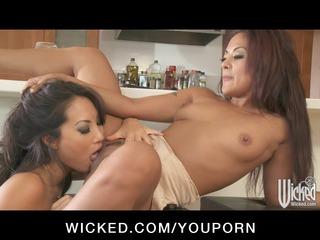 breasty oriental wazoo fucks japanese lesbo wife