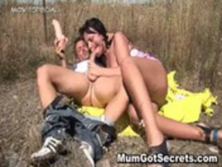 sexually excited milf gets screwed hard outdoor