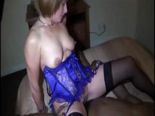 blond wife does the immodest with a big black