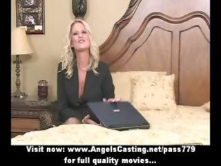 bored blond d like to fuck with laptop undressing