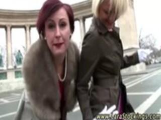 Posh mature lesbian gets hot