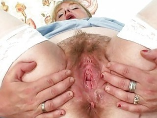 breasty mother i in uniform widens her hirsute