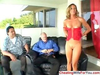 lewd older wife get double facial
