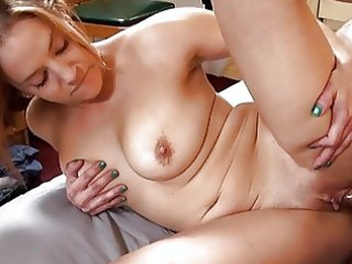 hot tattooed momma with large bosom sucks hard