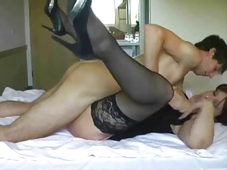 Big-tit mature gets fucked and facialed by