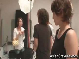 horny oriental mother i acquires facial after