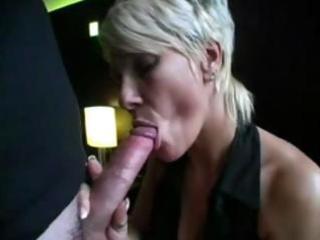blond milf sucks on a lengthy pecker and then