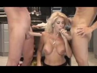 italian d like to fuck serves 7guys in the kitchen