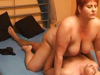 Chubby amateur wife sucks and fucks with cumshot