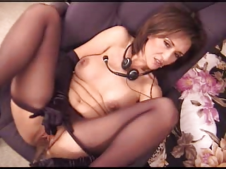 Hot american milf pleases herself and a lucky guy