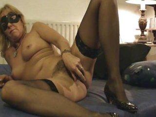 older milf mommy hirsute sex toy nylons amateur