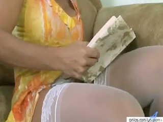 older vibrator slit masturbation - free porn