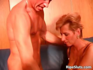 sexy blond mother i in stockings is drilled part7