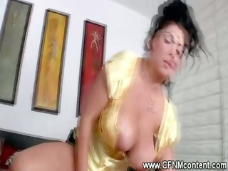 breasty cfnm chicks ride and engulf hard wang