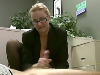 employee acquires masturbated by his lustful lady