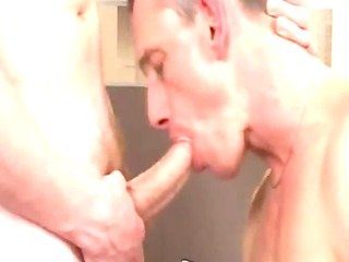 sexy older guy gets sucked and rimmed by twink
