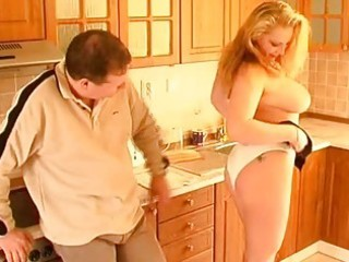 busty non-professional wife oral-sex titjob and