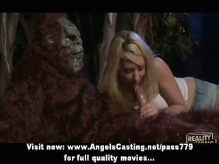 priceless super sexy blond whore with large