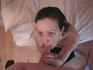 my wife blowjob and facial her face